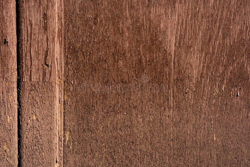一个老木门的布朗表面 免版税库存照片