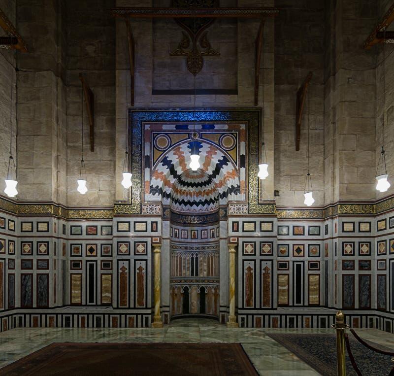 一个老清真寺的内部 库存照片