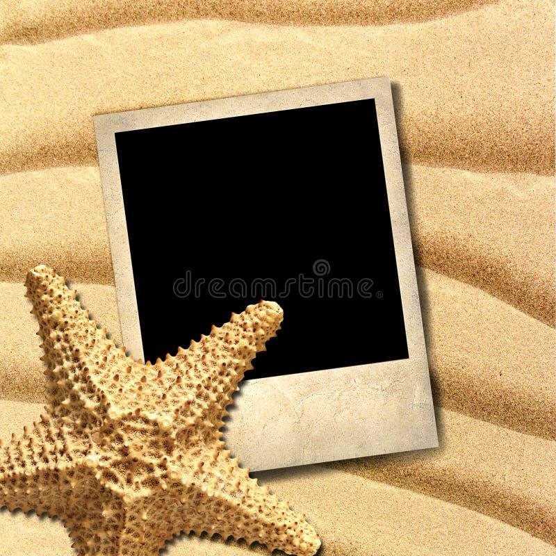 一个老牌的照片装饰了海星 免版税库存照片