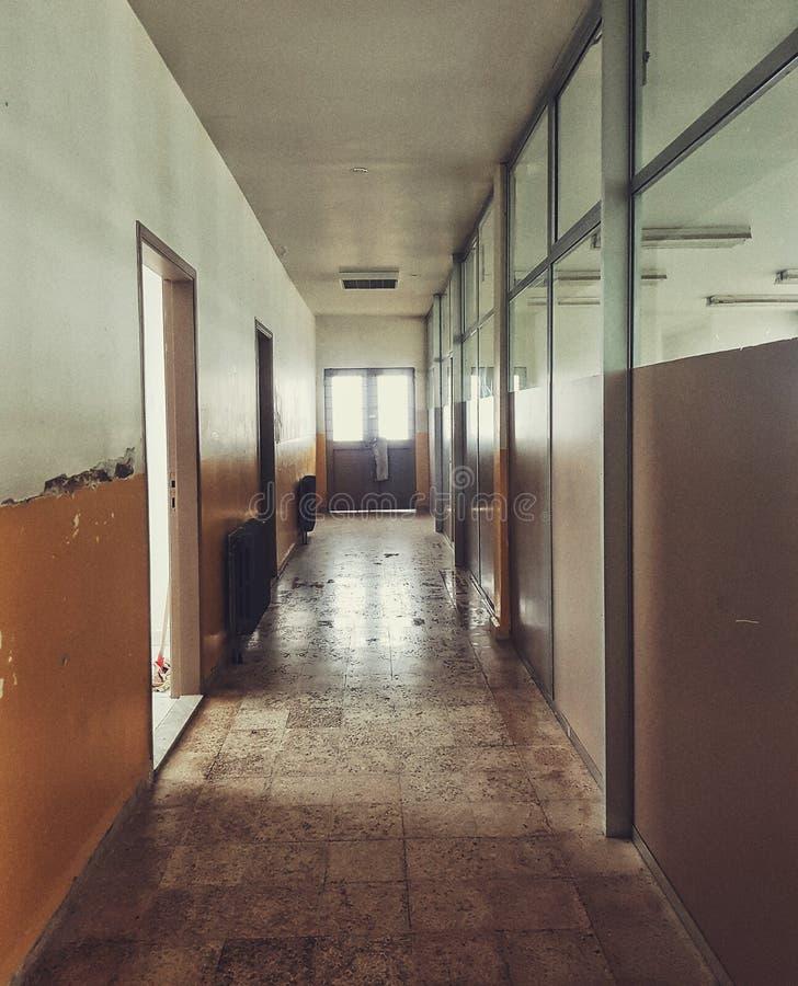 一个老走廊 库存图片