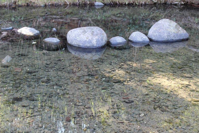 一个老鱼陷井在河 免版税图库摄影
