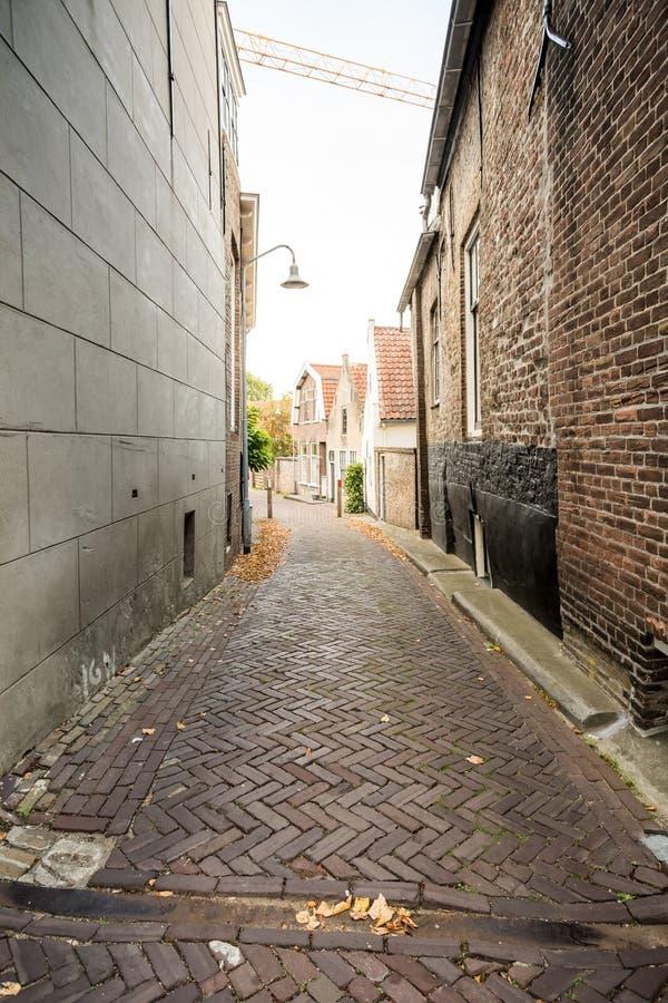 一个胡同在城市 免版税图库摄影