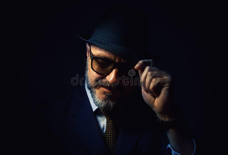 从一个胡子人的问候 免版税库存照片