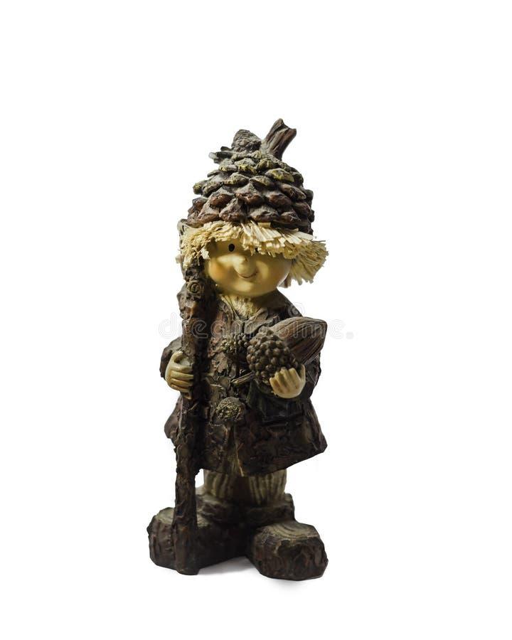一个自然木玩偶 库存照片