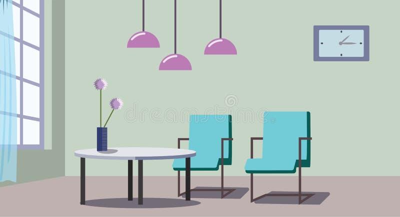 一个舒适客厅的好的设计 向量例证