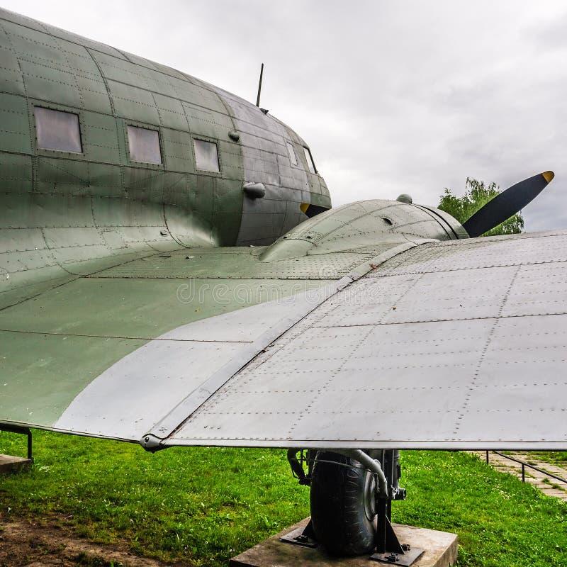 一个航空器的老击毁从WW2的 免版税图库摄影