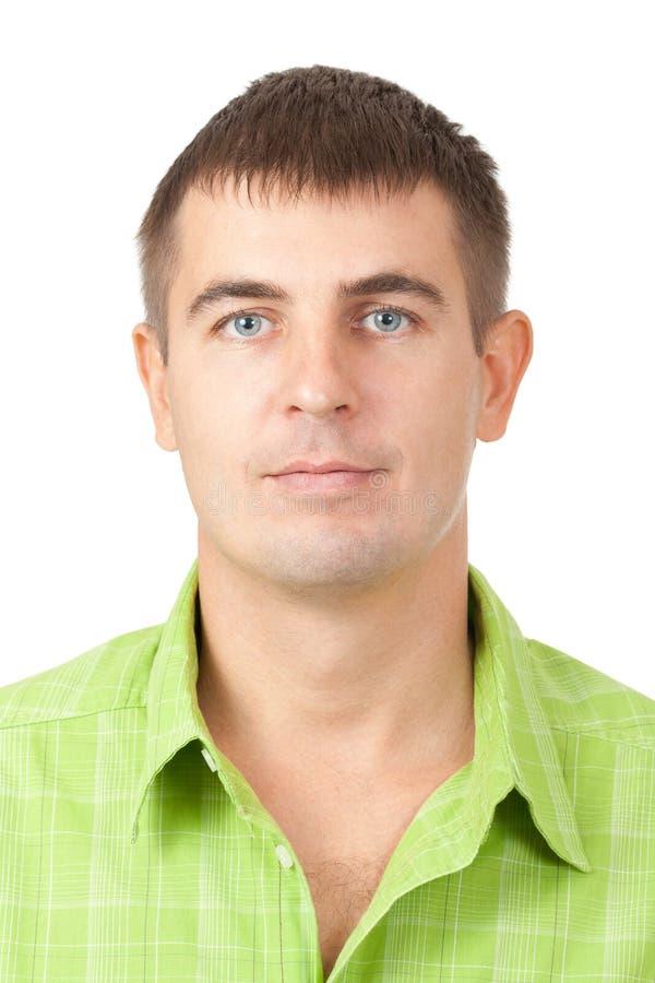 一个英俊的年轻人的纵向 免版税图库摄影