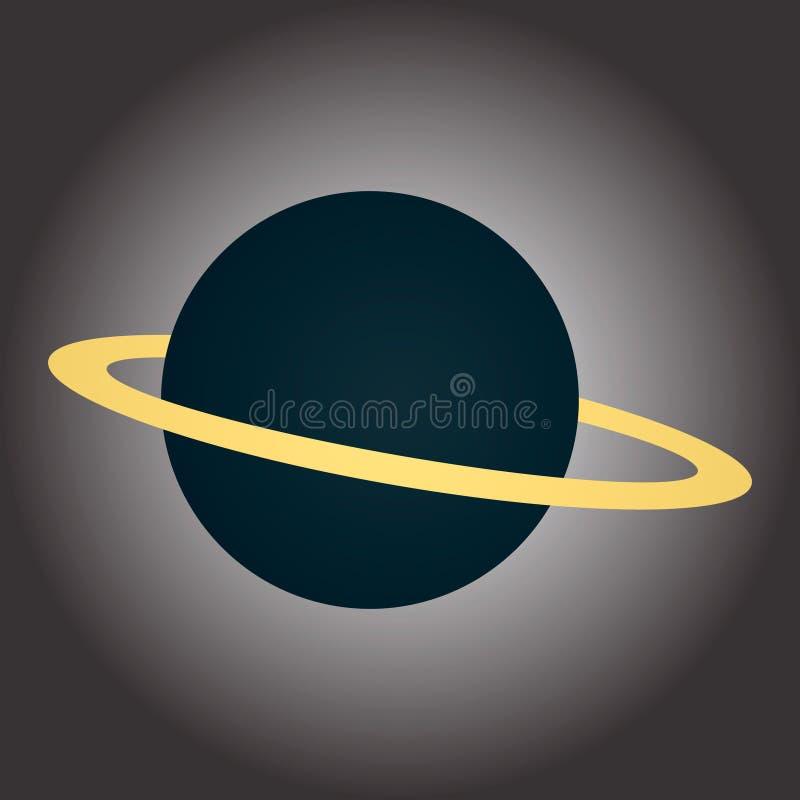 一个蓝色行星的图象与圆环的 在波斯菊的题材的例证 是能设计员每个evgeniy图象独立kotelevskiy对象原来的向量 向量例证