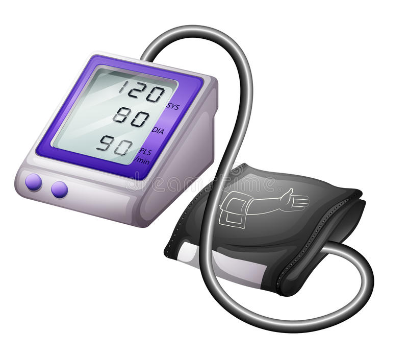 一个血压计 库存例证