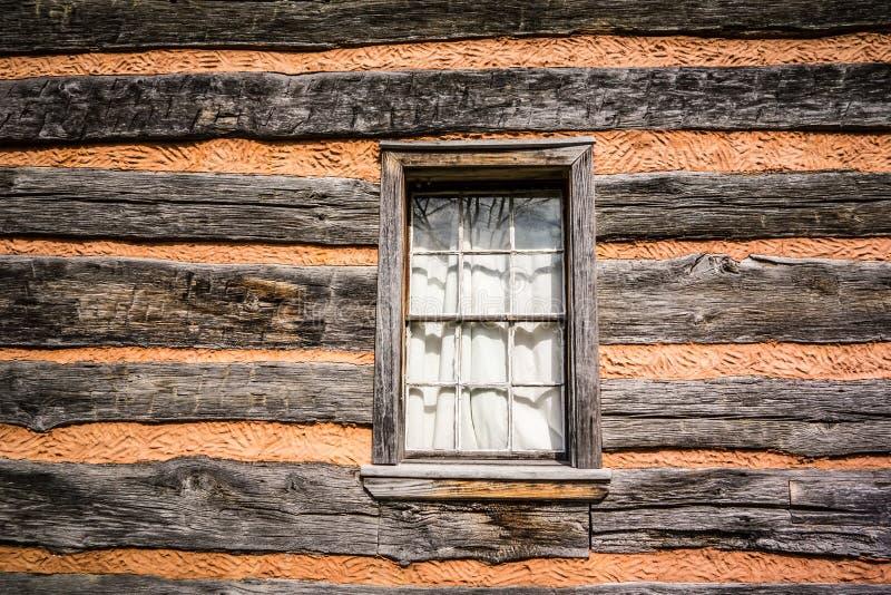一个被保存的历史的木屋 库存照片