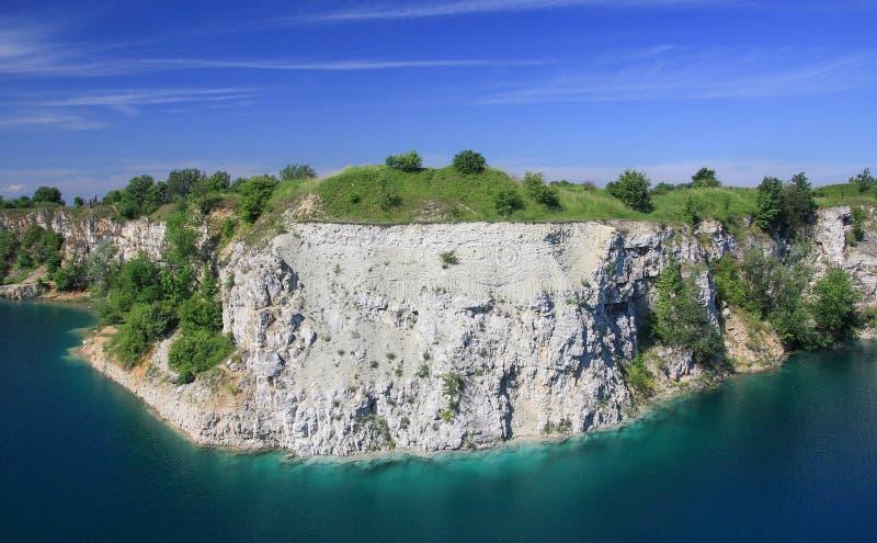 一个被充斥的矿在克拉科夫-波兰-湖zakrzowek 库存照片