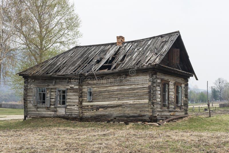一个被困扰的房子用俄语 免版税库存照片