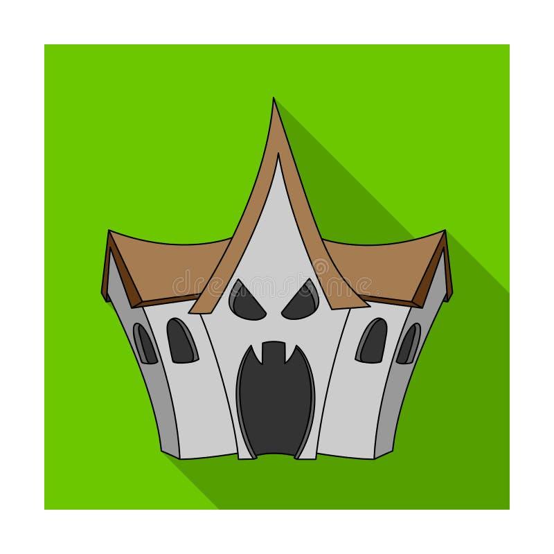 一个被困扰的房子,恐惧屋子在游乐园 对无所畏惧的吸引力 库存例证