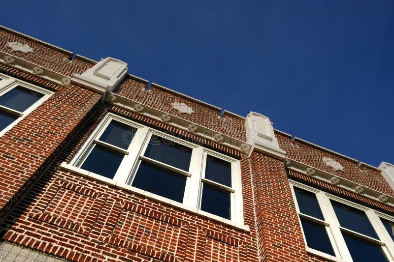 一个被恢复的大厦的蓝天 库存照片