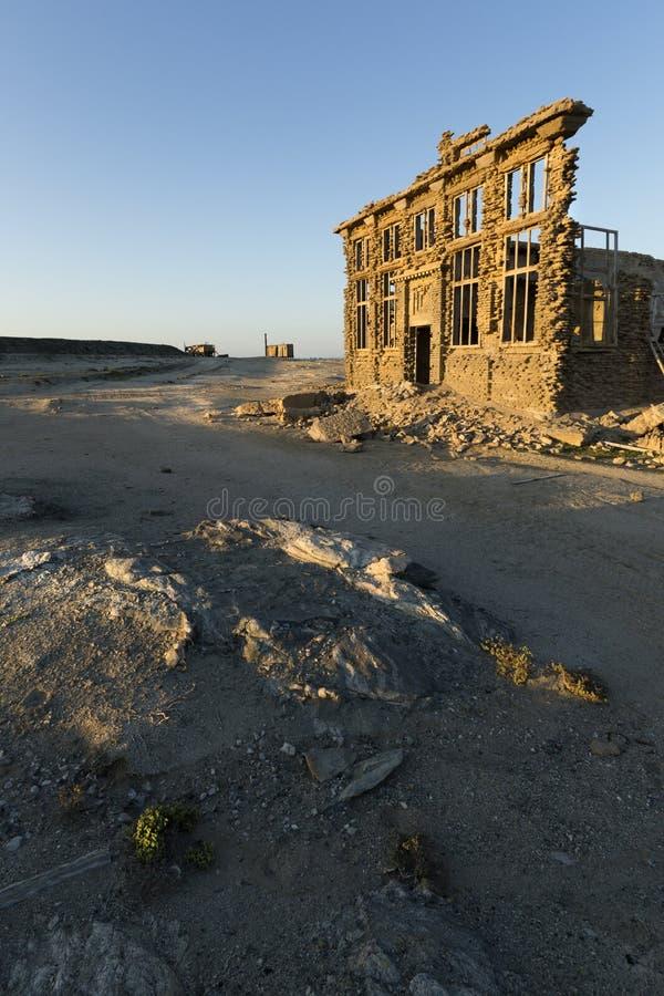 一个被破坏的大厦在纳米比亚 免版税库存图片