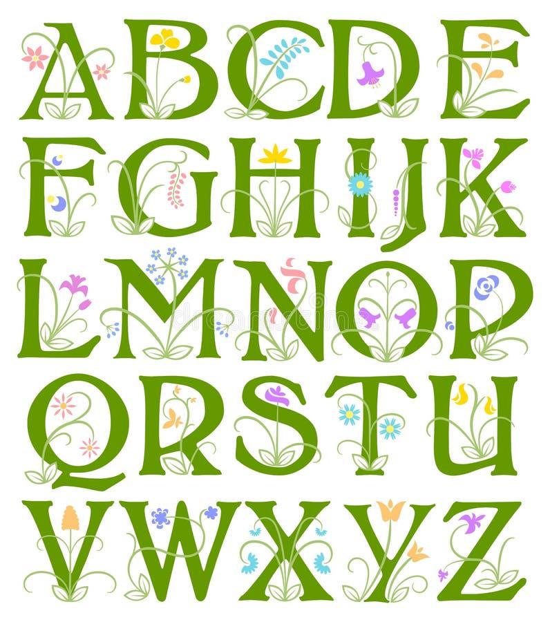花字母表 库存例证