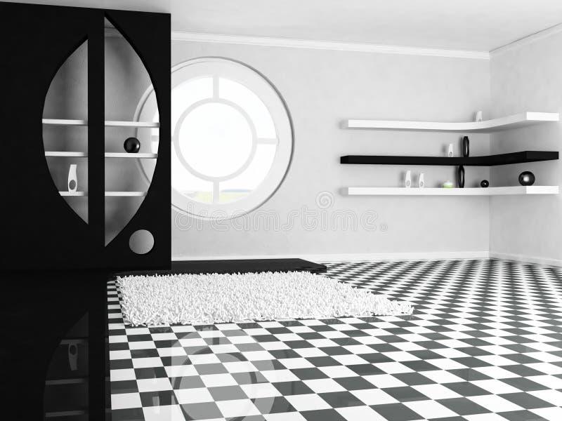 一个装饰适当位置和架子,窗口 向量例证