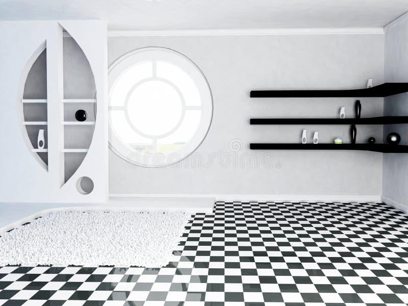 一个装饰适当位置和架子, awindow 向量例证