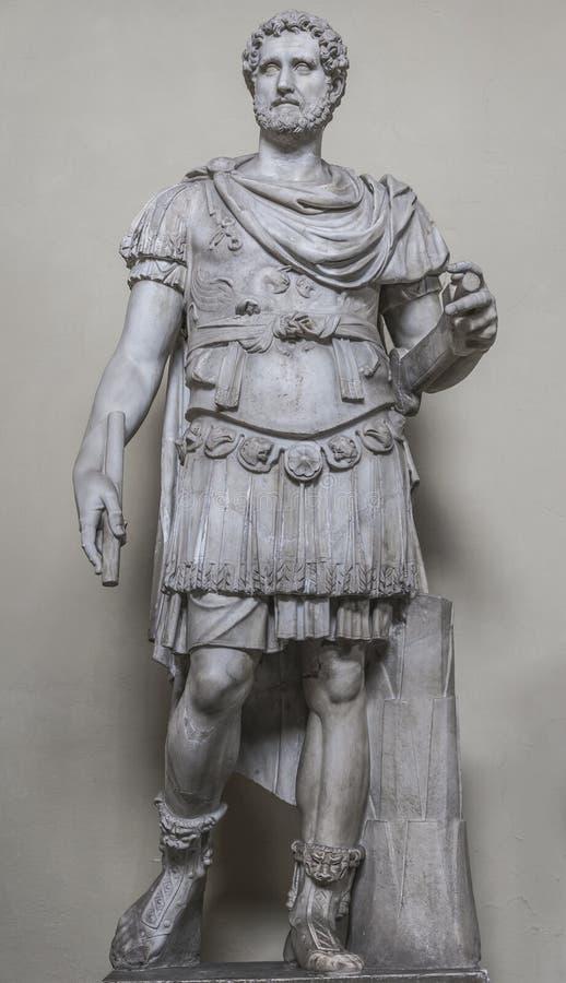 一个诺贝尔罗马人的雕象,罗马,意大利 免版税库存照片