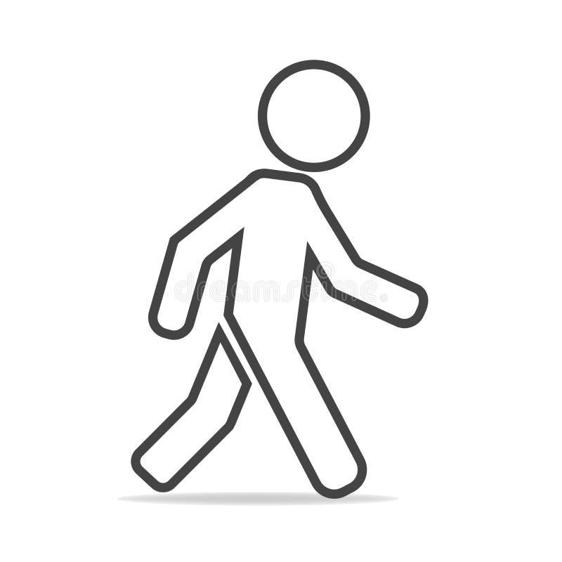 一个走的步行者的传染媒介象 走的m的例证 向量例证