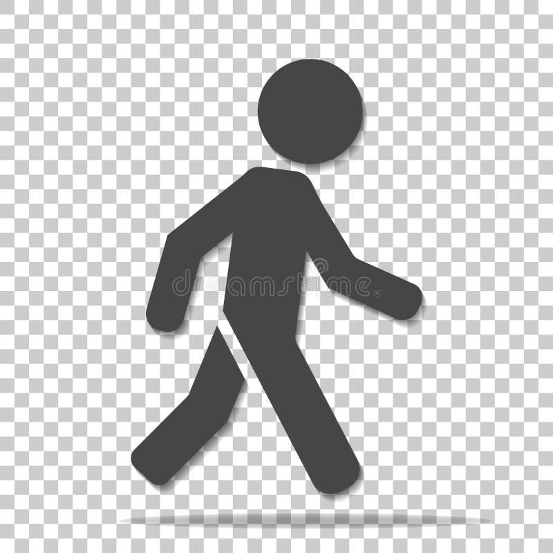 一个走的步行者的传染媒介象 走的m的例证 皇族释放例证