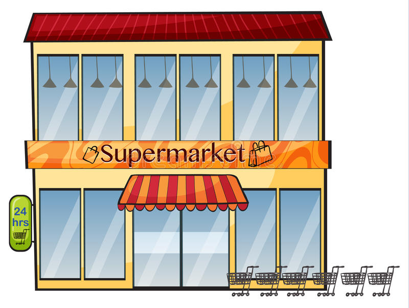一个超级市场 皇族释放例证