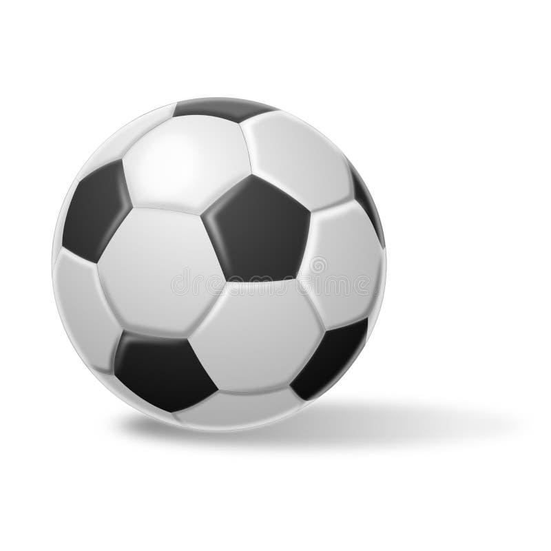 一个足球的例证在白色背景的 库存例证