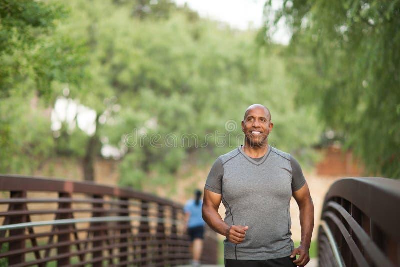 一个适合成熟非裔美国人的人的画象 库存图片