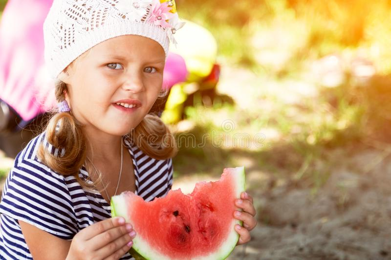 一个逗人喜爱的小女孩的画象 免版税库存图片