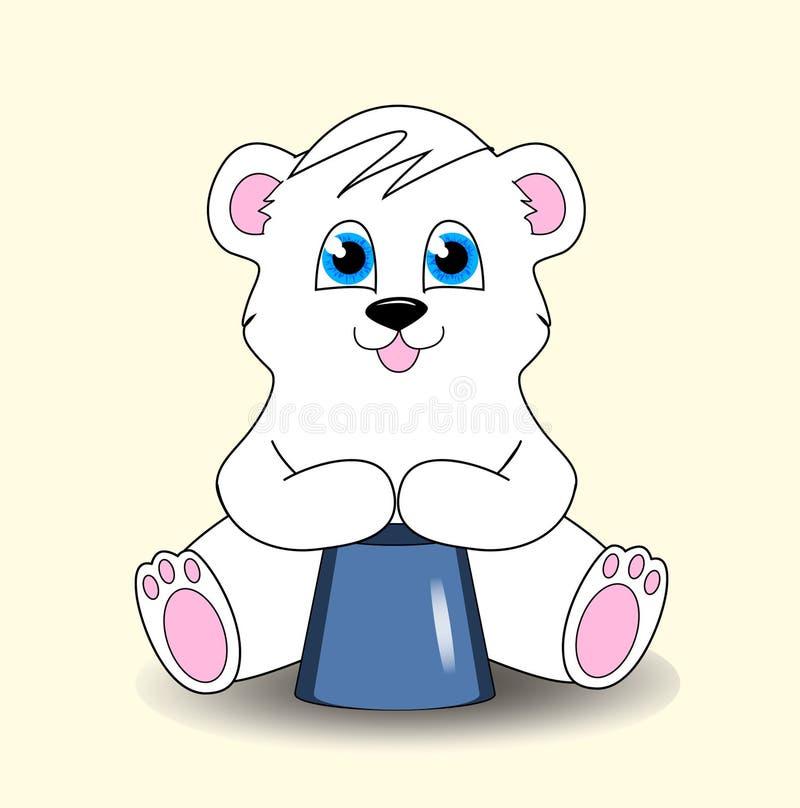 一个逗人喜爱的小的玩具熊 免版税库存照片