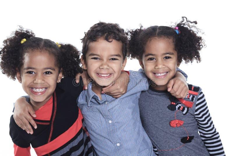 一个逗人喜爱的非裔美国人的小男孩 免版税图库摄影