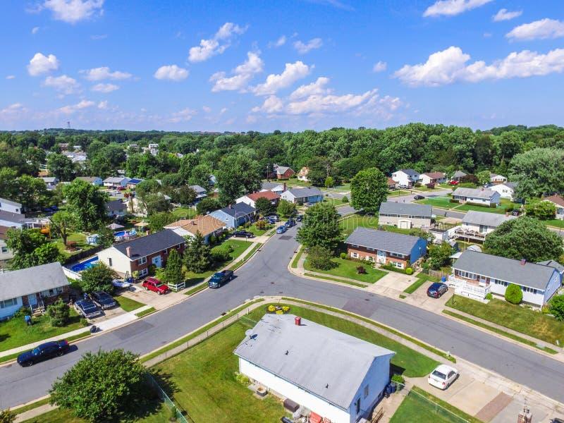 一个邻里的天线在Parkville在巴尔的摩县, Maryl 图库摄影