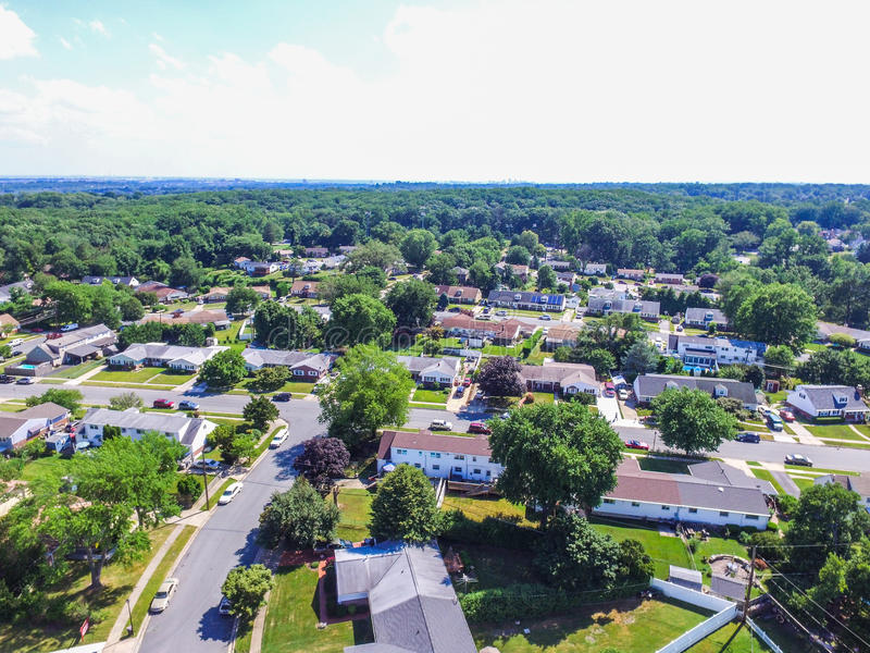 一个邻里的天线在Parkville在巴尔的摩县, Maryl 免版税图库摄影