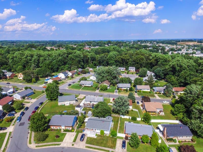 一个邻里的天线在Parkville在巴尔的摩县, Maryl 库存照片