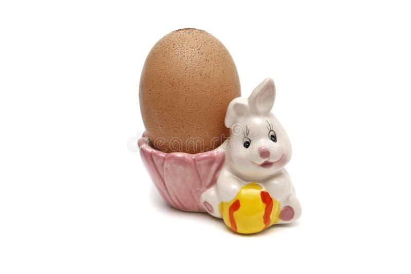 一个野兔的欢乐图用鸡蛋 库存图片