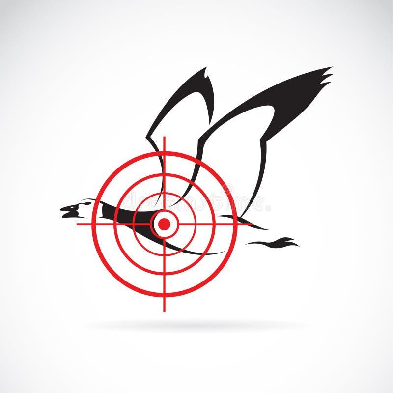一个野鸭目标的传染媒介图象 皇族释放例证