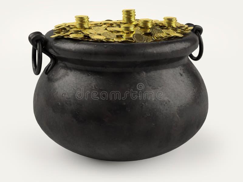 金壶 向量例证