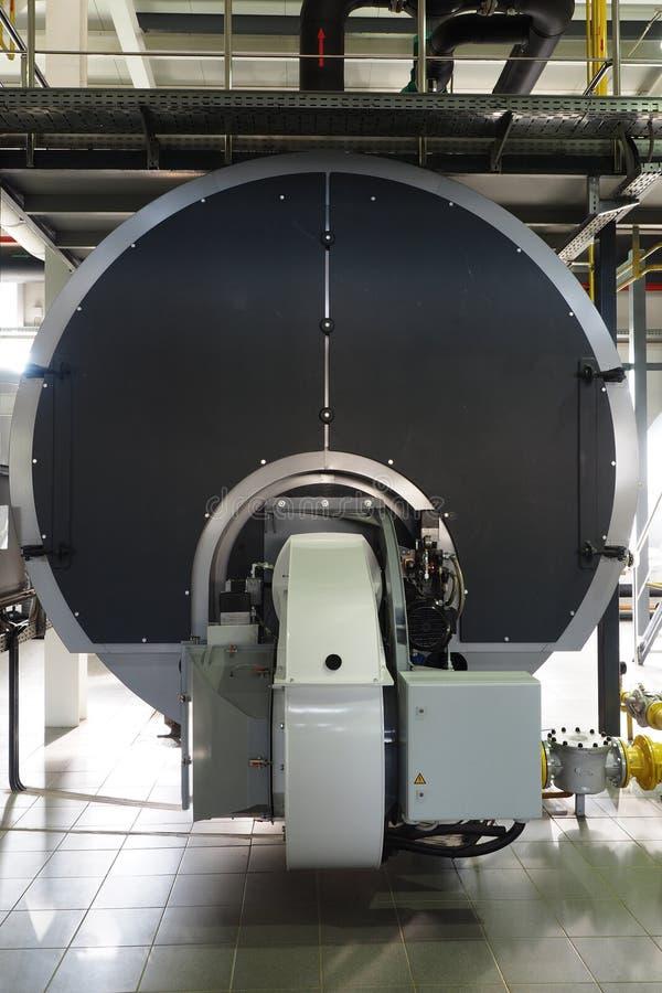 一个锅炉在大工业锅炉室 免版税图库摄影