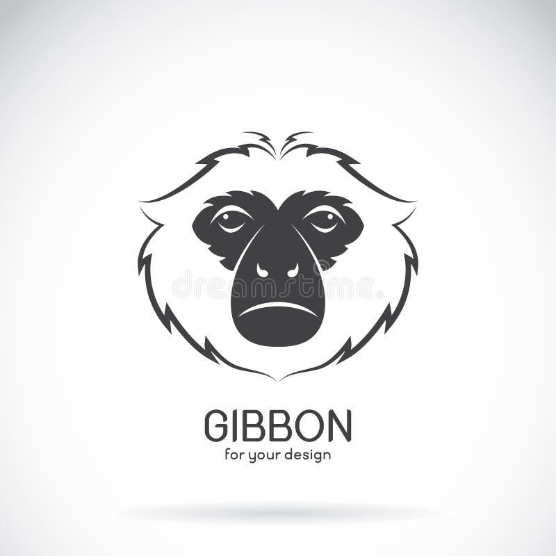 一个长臂猿头设计的传染媒介图象在白色背景,传染媒介的 向量例证
