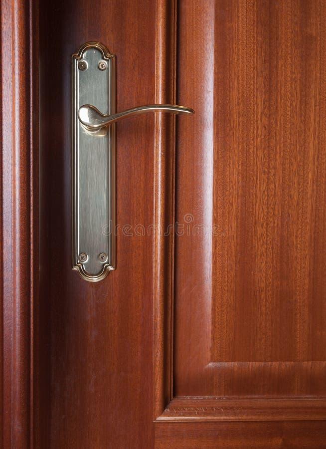 一个门的细节与把柄的 库存照片
