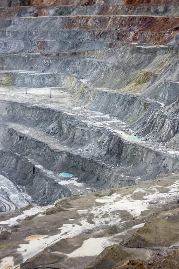 一个露天开采矿矿的墙壁/路 免版税库存图片