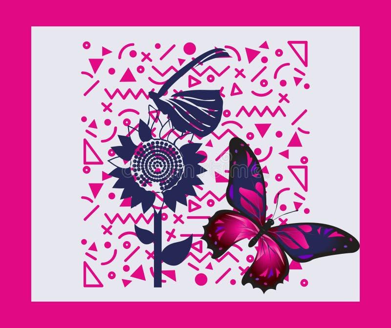 一个非常美好的蝴蝶图案 向量例证
