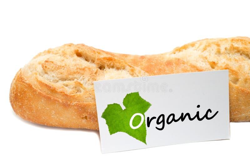 从一个面包店的有机概念白色背景的 免版税库存照片