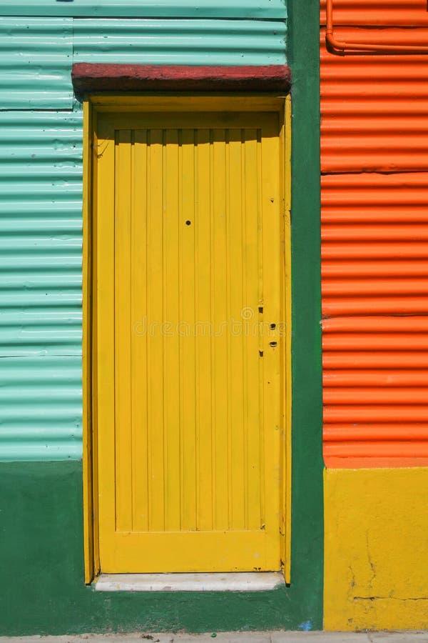一个颜色区拉博卡在布宜诺斯艾利斯,阿根廷 免版税库存图片