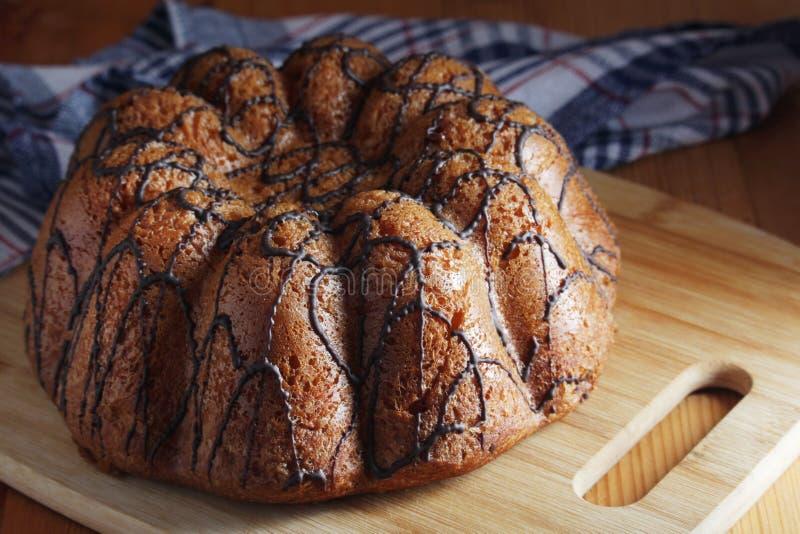 一个饼干蛋糕用巧克力 图库摄影