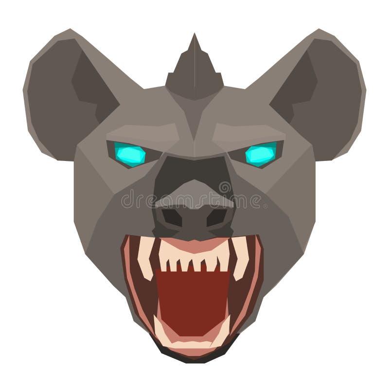 一个鬣狗Hyaenidae头设计的传染媒介在白色背景的 通配的动物 容易的层状例证 向量例证