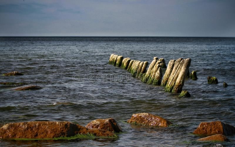 一个晴天在波罗的海 图库摄影