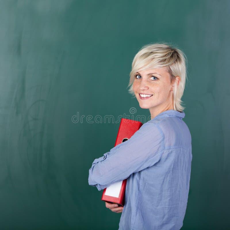 一个年轻女学生的画象 库存照片