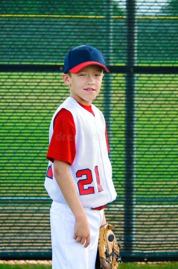 青年棒球画象 库存图片
