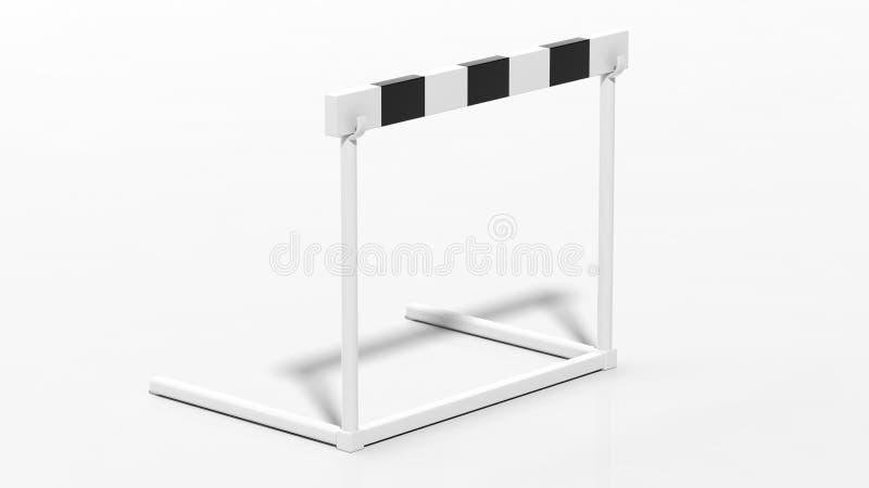 一个黑白障碍 库存例证